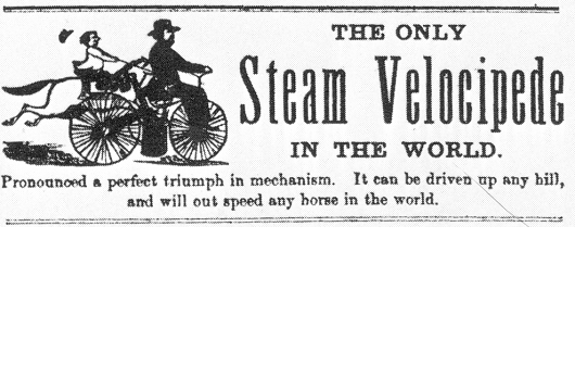 Roper steam engine velocipedes