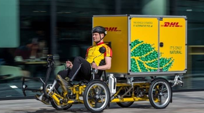 DHL Delivering Heavy Parcels with Cargo Ebikes