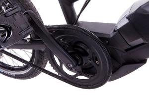 detail of an ebike motor