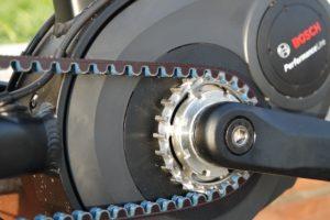 detail of bosch ebike motor