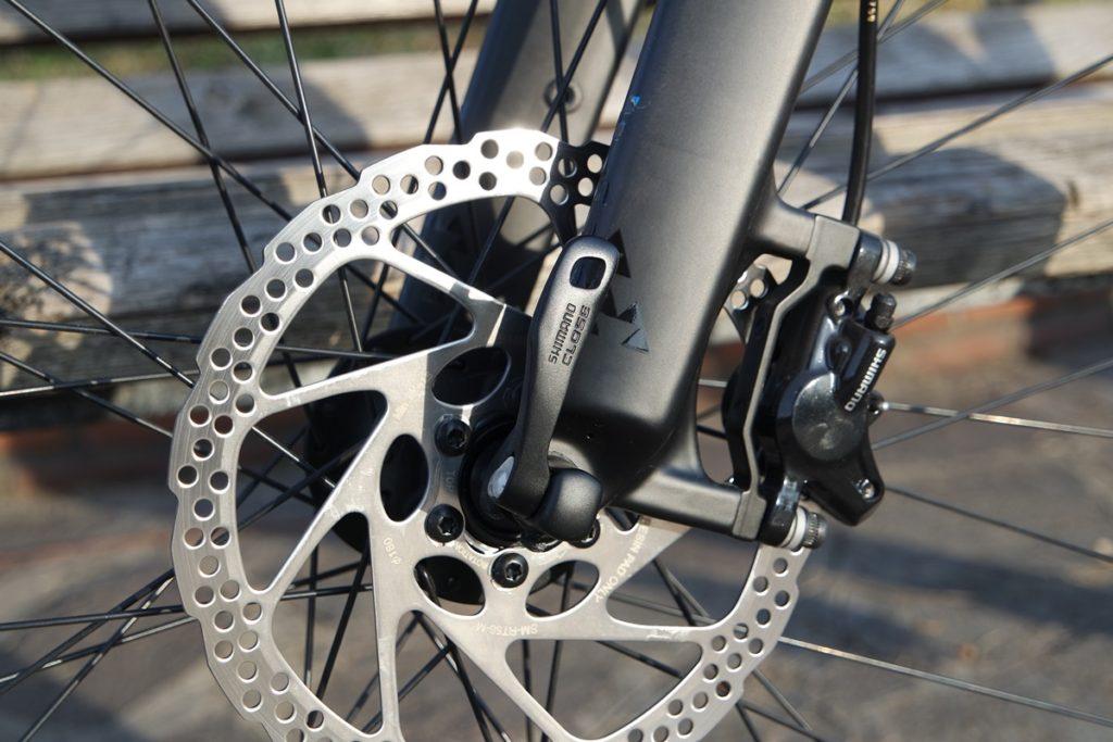 detail of disc brakes