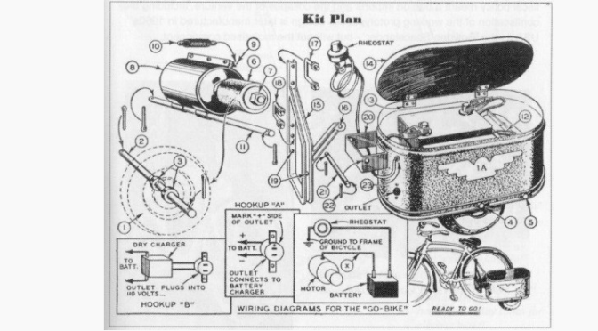 Electric Gobike, a DIY project from the Thirties